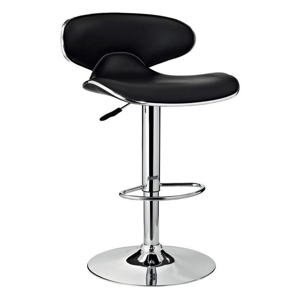 Oh! Home Marissa Chrome and Black PU Barstool