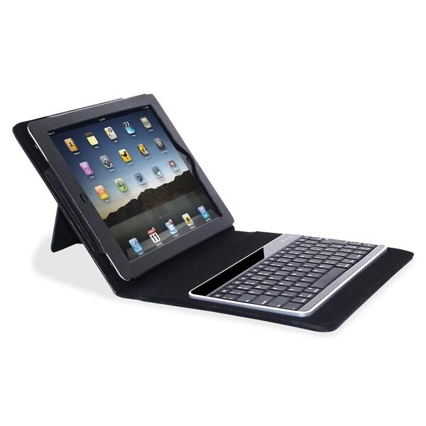 Compucessory Keyboard/Cover Case (Portfolio) for iPad - Black - 1/EA