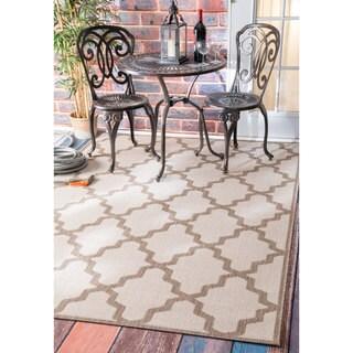 nuLOOM Alexa Moroccan Trellis Indoor/ Outdoor Tawny Porch Rug (6'3 x 9'2)