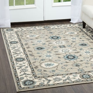 Cambridge Beige/Cream Transitional Rug (7'10 x 10'2)