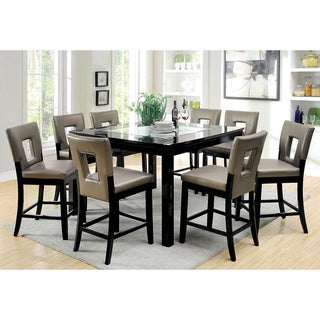 Furniture of America Evantel Mirror Insert Counter Height Dining Table