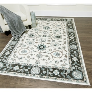 Cambridge Cream/Grey Transitional Rug (7'10 x 10'2)