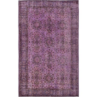 ecarpetgallery Color Transition Purple Wool Rug (4'0 x 6'7)