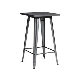 Amalfi Dark Gunmetal Steel Bar Table