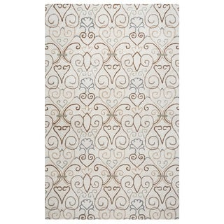 Rizzy Home Palmer Collection Ivory Area Rug (8' x 10')
