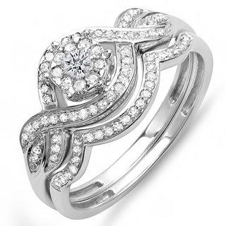 14k White Gold 2/5ct TDW Diamond Bridal Ring Set (H-I, I1-I2)