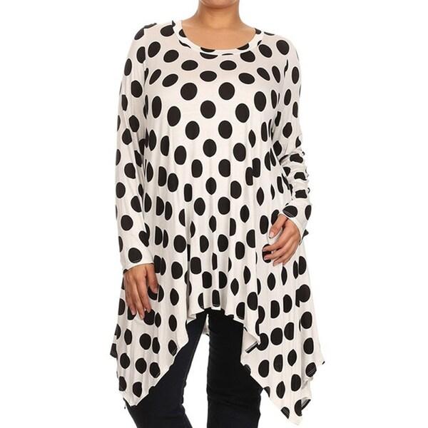 Plus Size Women's Polka-dot Tunic