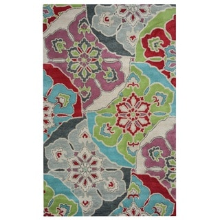 Rizzy Home Pandora Collection Multicolored Floral Area Rug (9' x 12')