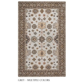 Rizzy Home Valintino Collection Grey/ Rust Area Rug (9' x 12')