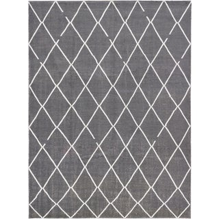 ecarpetgallery Joshua Grey Cotton Rug (9'0 x 12'0)