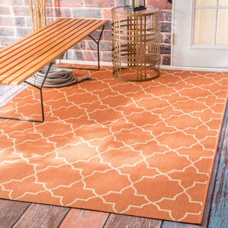 nuLOOM Star Trellis Indoor/ Outdoor Brick Porch Rug (6'3 x 9'2)