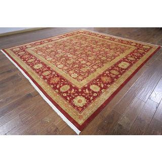 H9527 Wool Square Oushak Peshawar Chobi Hand-knotted Rug (10' x 10')