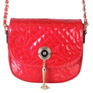 Rimen and Co. Lovely Floral Printed Metal Crossbody Chain Handbag