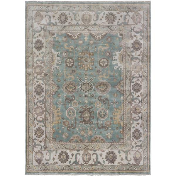 ecarpetgallery Royal Ushak Blue Wool Rug (8'8 x 12'0)