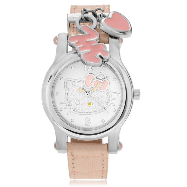 Hello Kitty Women's Hello Kitty Charm Leather Band Watch
