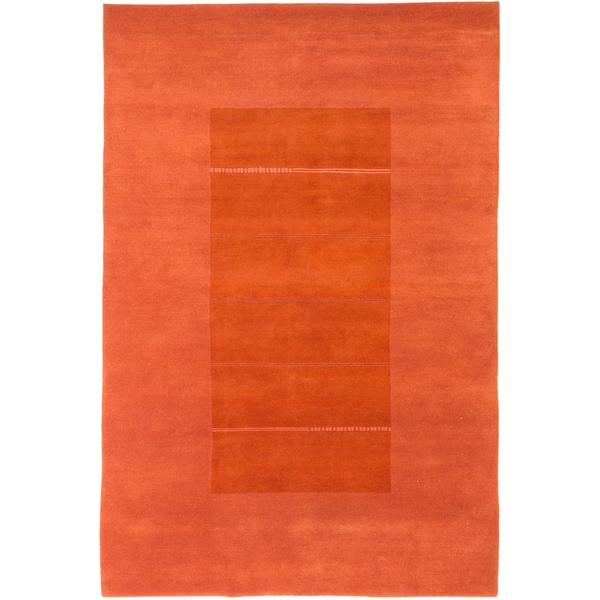 ecarpetgallery Kathmandu Brown and Orange Wool Rug (6'8 x 9'11)