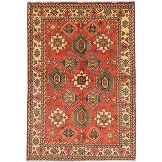 ecarpetgallery Finest Kargahi Brown Wool Rug (6'10 x 9'9)