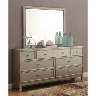 Furniture of America Estevia Contemporary Silver Grey 2-piece Dresser and Mirror Set