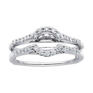 Boston Bay Diamonds 14k White Gold 1/3ct TDW Diamond Bridal Wrap (H-I, SI1-SI2)