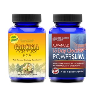 Garcinia Cambogia 30 Day with 15-Day Quick and Gentle Colon Cleanse