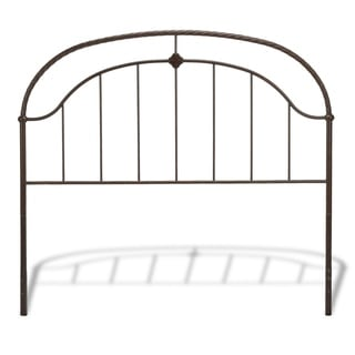 Fashion Bed Group B1238 Cascade Ancient Gold Finish Headboard with Metal Panel and Twisted-Rope Rail