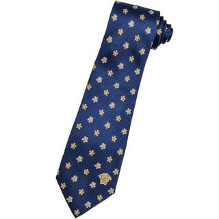 Versace 100-percent Italian Silk Goldenrod Flower Neck Tie