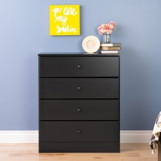 Bella 4-Drawer Dresser, Black