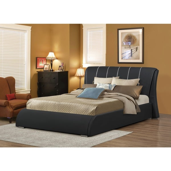 LYKE Home Katrina Black Queen Platform Bed