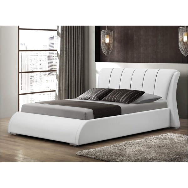 LYKE Home Katrina White Queen Platform Bed
