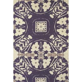 Feizy Purple Verapaz Hand-woven Rug (4' x 6')