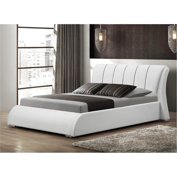 LYKE Home Katrina White King Platform Bed