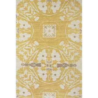 Feizy Verapaz Beige/ Yellow Abstract Rug (4' x 6')