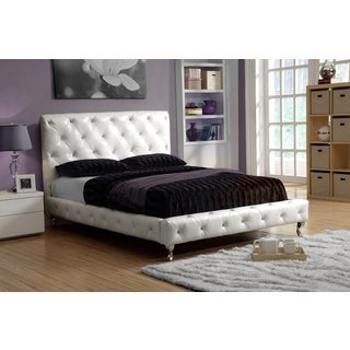 LYKE Home Ivory White Platform King Bed