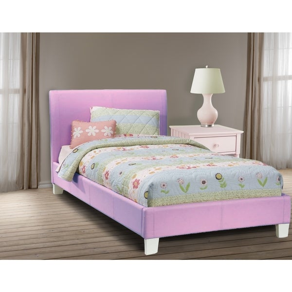 LYKE Home Downtown Lavender Platform Twin Bed