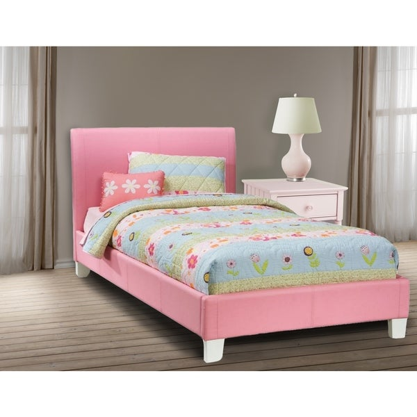 LYKE Home Downtown Pink Platform Twin Bed