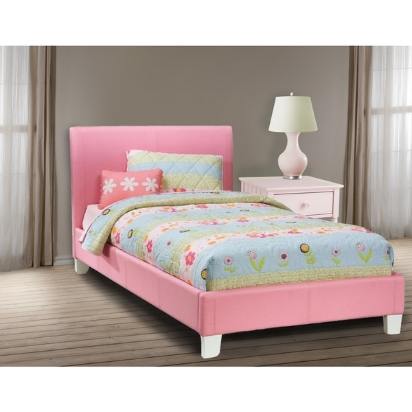 LYKE Home Downtown Pink Platform Full Bed