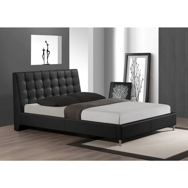 LYKE Home Tahara Black King Platform Bed