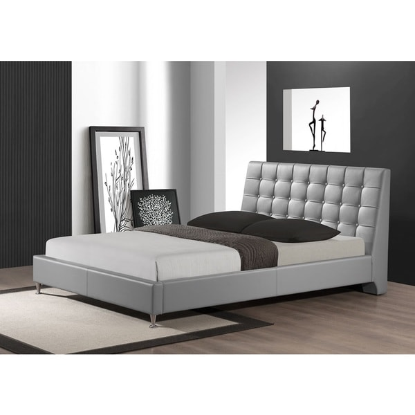 LYKE Home Tahara Grey King Platform Bed