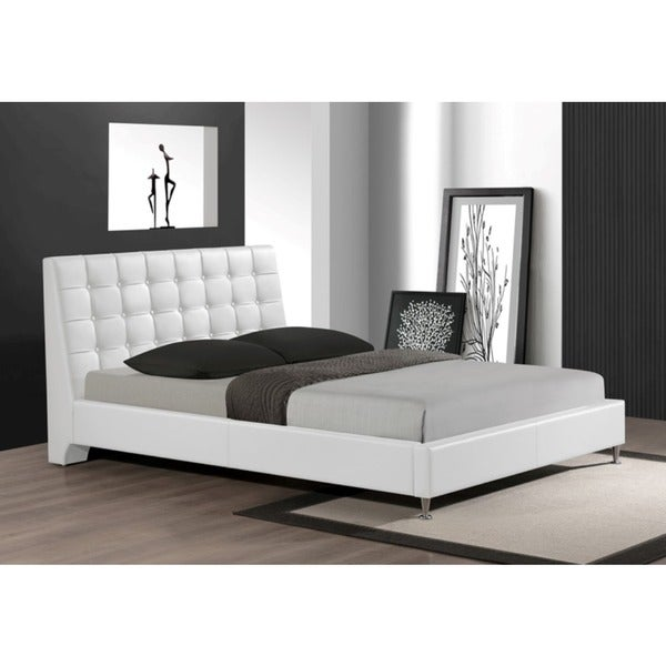 LYKE Home Tahara White King Platform Bed