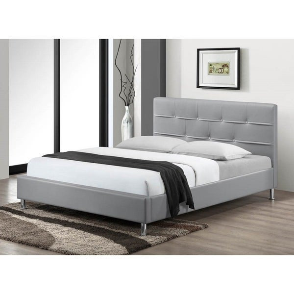 LYKE Home Charleston Grey Queen Platform Bed
