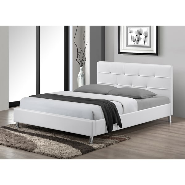 LYKE Home Charleston White King Platform Bed