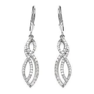 Malaika Sterling Silver 3/4ct TDW White Diamond Earrings (I-J, I2-I3)