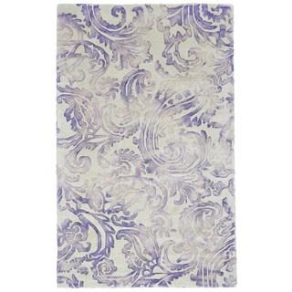 Grand Bazaar Violet Billingsley Hand-hooked Rug (5' x 8')