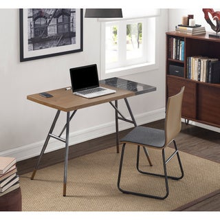 Modern Desk with Wireless Smart Phone Charger