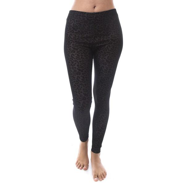 Soho Apparel Women's Sexy Mesh Inner Print Fit Leggings