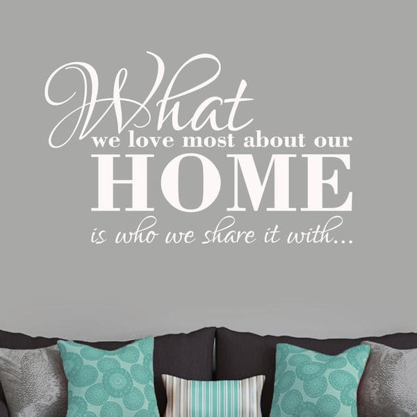 What We Love Most About Our Home Small Wall Decal
