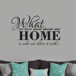 What We Love Most About Our Home' 36 x 22-inch Wall Decal