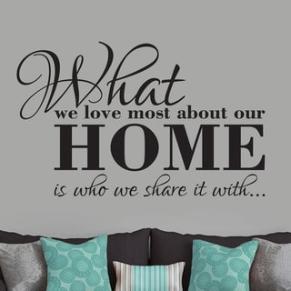 What We Love Most About Our Home' 48 x 30-inch Wall Decal