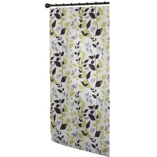 Modern Botanical Multicolor Fabric Shower Curtain