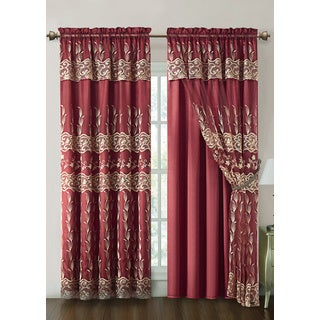 VCNY Darius Curtain Panel with Attached Valance and Satin Backing